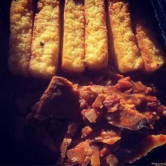 BBQ Brisket with Polenta Fries